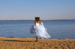 Running bride Stock Image