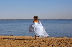 Running bride Stock Image