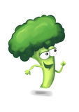 Running broccoli Royalty Free Stock Photos