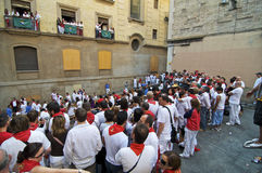 Running of the Bulls Crowd Royalty Free Stock Images