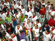 Running of the bulls in Pamplona Stock Images
