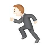 Running Business Man. Illustration of 3d business man in vector running Stock Photo