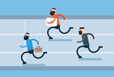Running Business Man Group Hurry Opponents Stock Photography