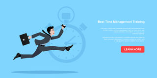 Running business man Stock Images