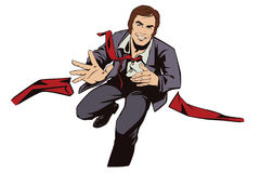 Running business man. Stock illustration. Stock Images