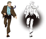 Running business man. Stock illustration. Stock Photography
