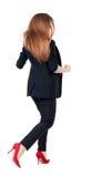 Running business woman. Stock Photo
