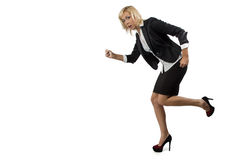 Running business woman Stock Photos