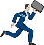 Running businessman Royalty Free Stock Images