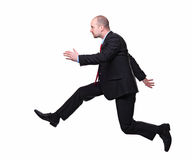 Running businessman Stock Photos