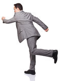 Running businessman Stock Photo