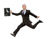 Running businessman Stock Image