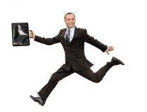 Running businessman Stock Image