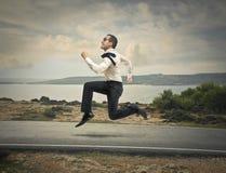 Running businessman Stock Photography