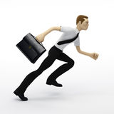 Running businessman with a briefcase Royalty Free Stock Photos