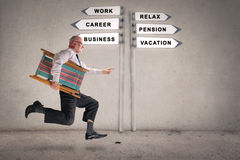 Running businessman Royalty Free Stock Photos