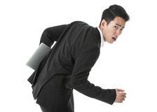 Running businessman Stock Images