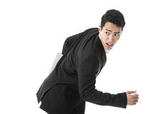 Running businessman Stock Photography