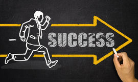 Running businessman; success concept Stock Image