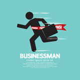 Running Businessman Symbol Royalty Free Stock Photography
