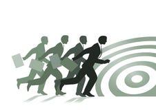 Running businessmen stock illustration