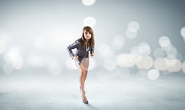 Running businesswoman Stock Image