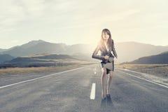 Running businesswoman Royalty Free Stock Photos