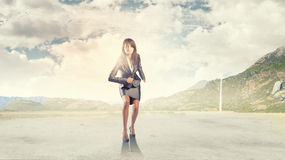 Running businesswoman Royalty Free Stock Images