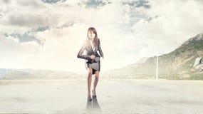 Running businesswoman Stock Photos