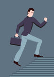 Running busy businessman Royalty Free Stock Photo
