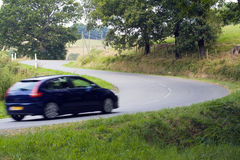Running car Royalty Free Stock Photography