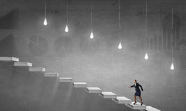 Running on career ladder Stock Photo