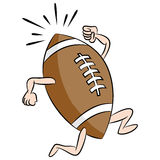 Running Cartoon Football Royalty Free Stock Image