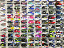 Running And Casual Shoes For Sale In Fashion Apparel Shoe Store Display Stock Photos
