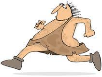 Running caveman Stock Image