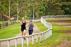 Running in Centennial Park, Sydney Royalty Free Stock Image