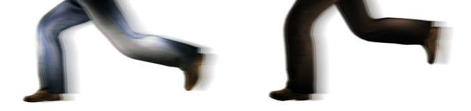 Running Chasing Motion Legs Royalty Free Stock Image