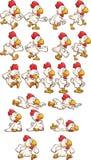 Running chicken Royalty Free Stock Photo