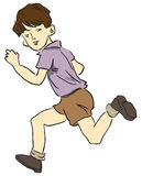 Running a child. Picture a child running in shorts. Vector illustration stock illustration