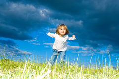 Running child Royalty Free Stock Photos