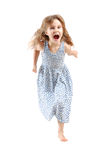 Running child isolated Royalty Free Stock Images