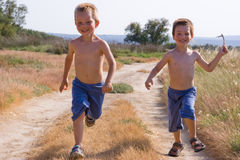 Running children Stock Photo