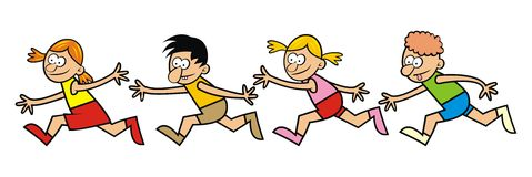 Running children Royalty Free Stock Image