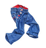 Running children's blue jeans Royalty Free Stock Photo