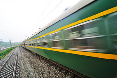 A running chinese train Royalty Free Stock Images