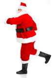 Running Christmas Santa Royalty Free Stock Photos