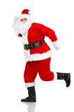 Running Christmas Santa Stock Photography
