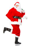 Running Christmas Santa Stock Image
