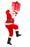 Running Christmas Santa Royalty Free Stock Image