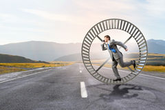 Running in circles Stock Photography